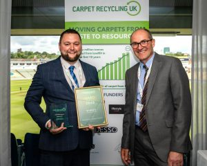 Recycling Champion Winner Glenn Mitchell of Designer Contracts with Robert Barker of Carpet Recycling