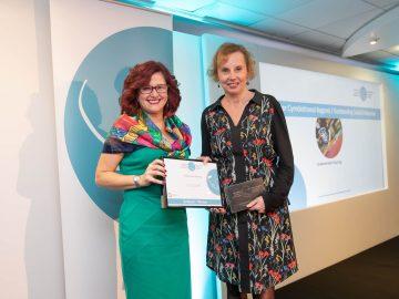 Ellen Petts of Greenstream accepting award 2019